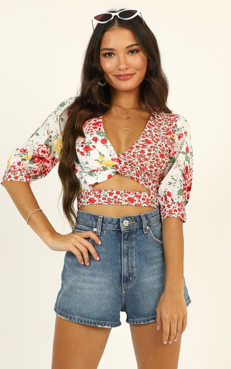 Talk Sweet To Me Top In Red Floral