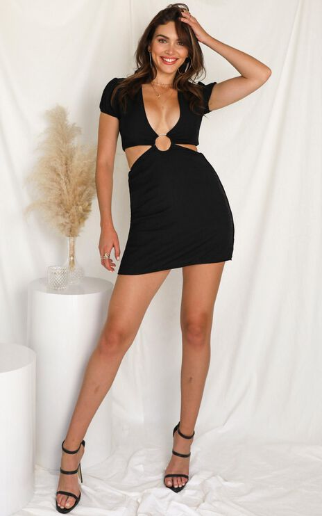 Pulling It Together Dress In Black