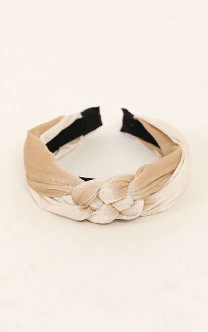 Back And Forth Headband In Champagne, , hi-res image number null