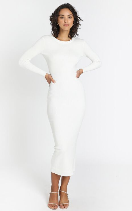 Nastia Dress in White