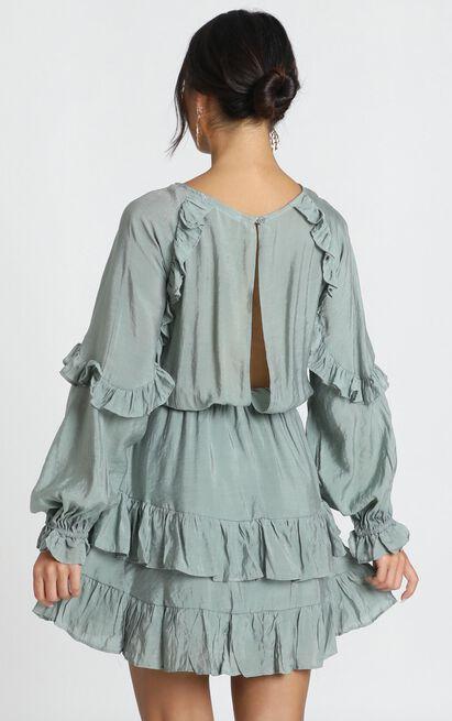 Claudia Dress In Sage - 6 (XS), Sage, hi-res image number null