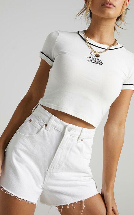 Rollas - Mirage Denim Short in Vintage White
