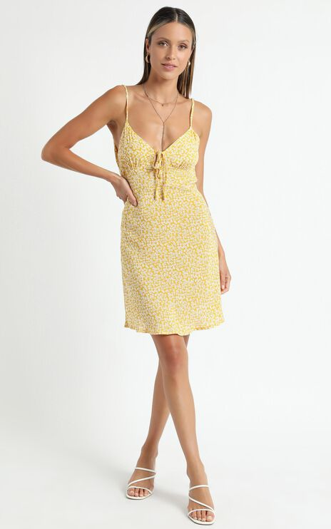 Texas Dress in Yellow Floral