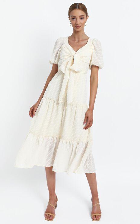 Neive Dress in Beige