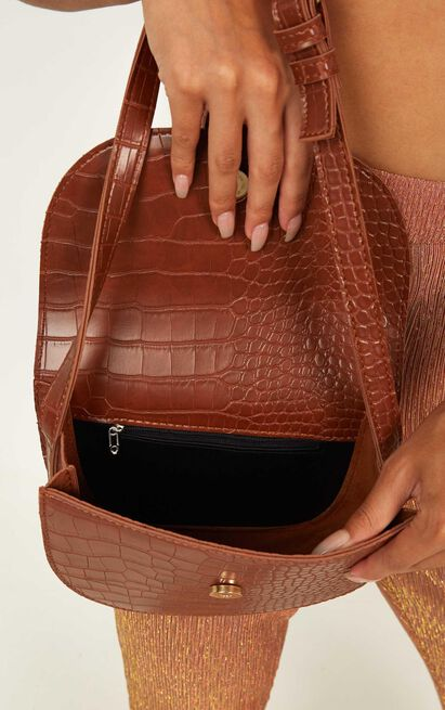 Check Up On It Bag In Tan Croc, , hi-res image number null