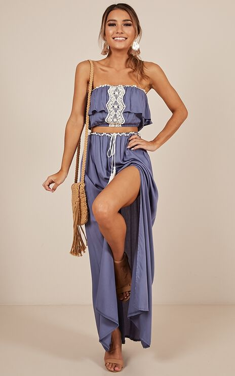 Be Someone Two Piece Set in Blue