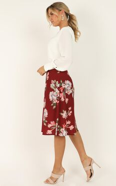 The Frenzy Skirt In Wine Floral