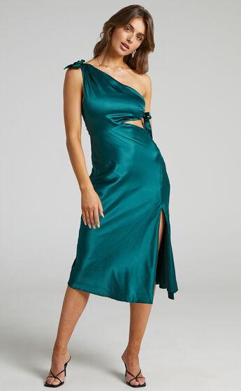 Glaucus Dress in Emerald Satin