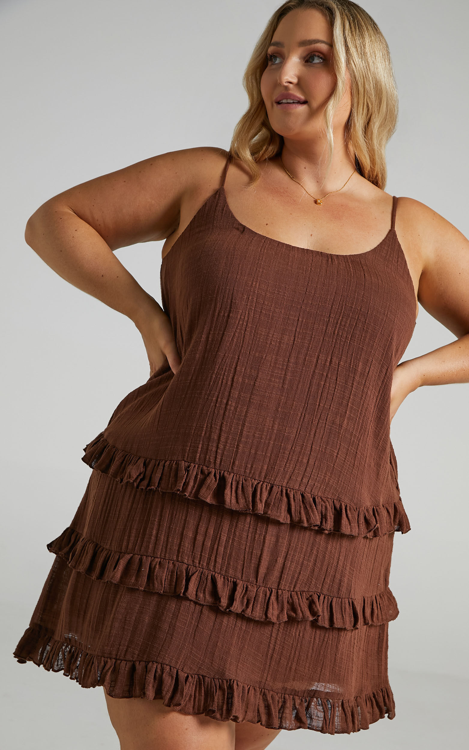 Long Reflections Dress in Chocolate - 06, BRN1, super-hi-res image number null