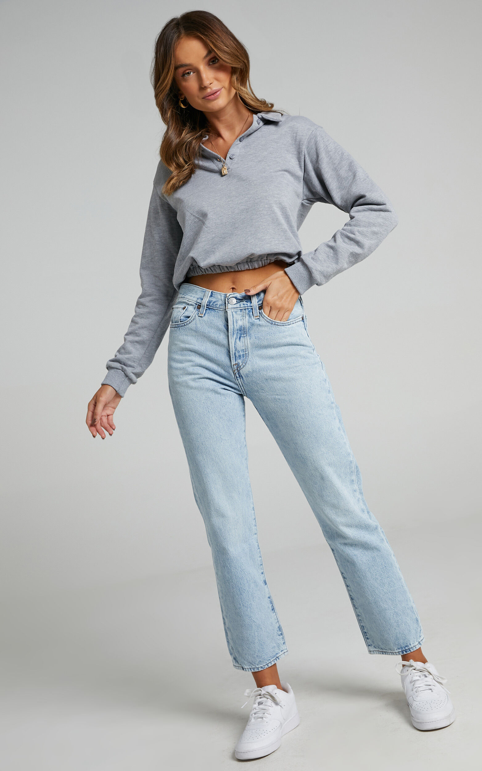 Levis - Wedgie Straight Jean in Montgomery Baked - 06, BLU1, super-hi-res image number null