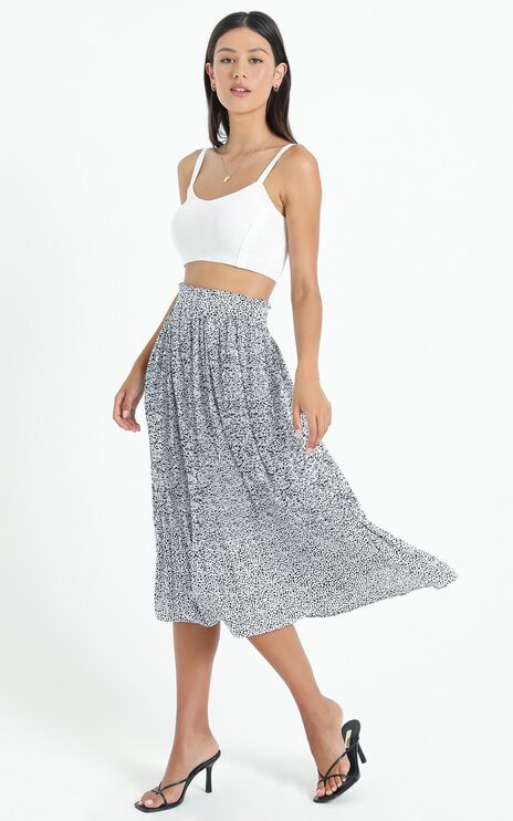 Not My Problem Skirt In Black Print
