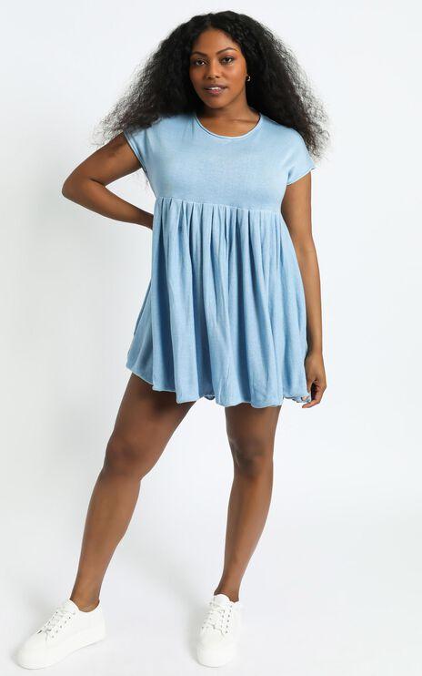 Embry Knit Dress in Powder Blue