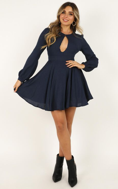 Clean And Clear Dress In Navy