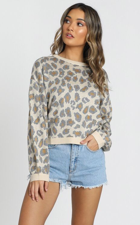 Anything Goes Jumper in Leopard