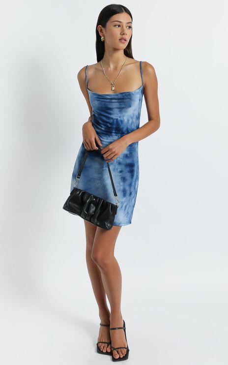 Morley Dress in Blue Tie Dye