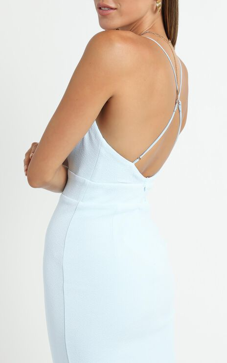 Lissa Midi Dress In Baby Blue