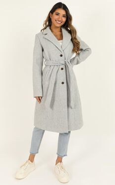 Back To The Big City Coat In Grey