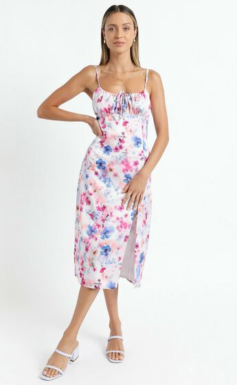 Not your Gal Midi Dress in Blur Floral