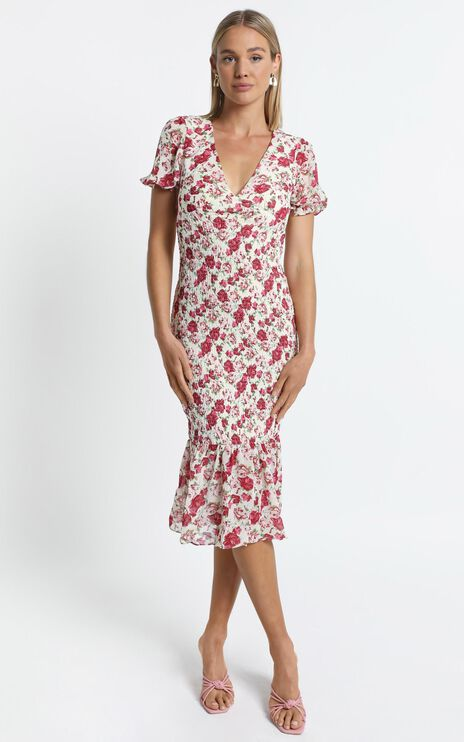 Canterbury Dress in Pink Floral