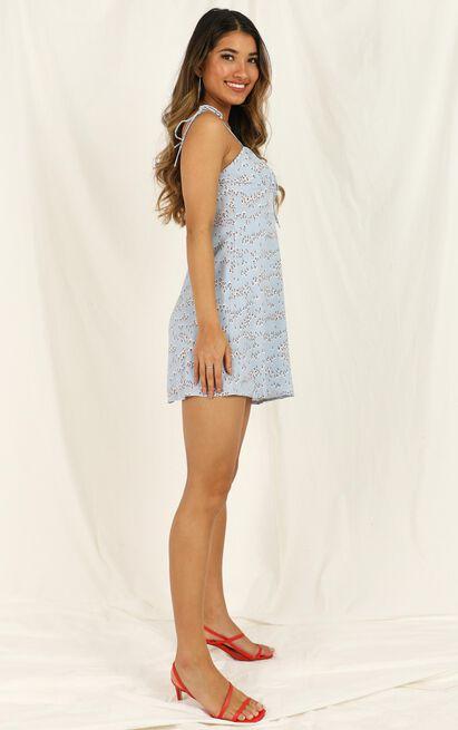 Tear It Apart dress in blue floral - 12 (L), Blue, hi-res image number null