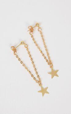Coming Undone Earrings In Gold
