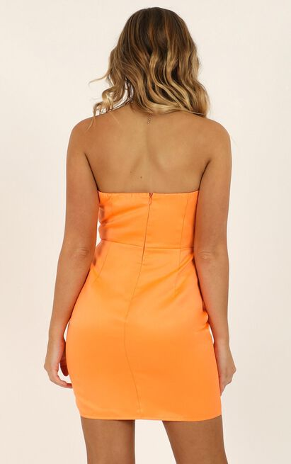 Going To Drive You Mad Dress in tangerine satin - 20 (XXXXL), Orange, hi-res image number null