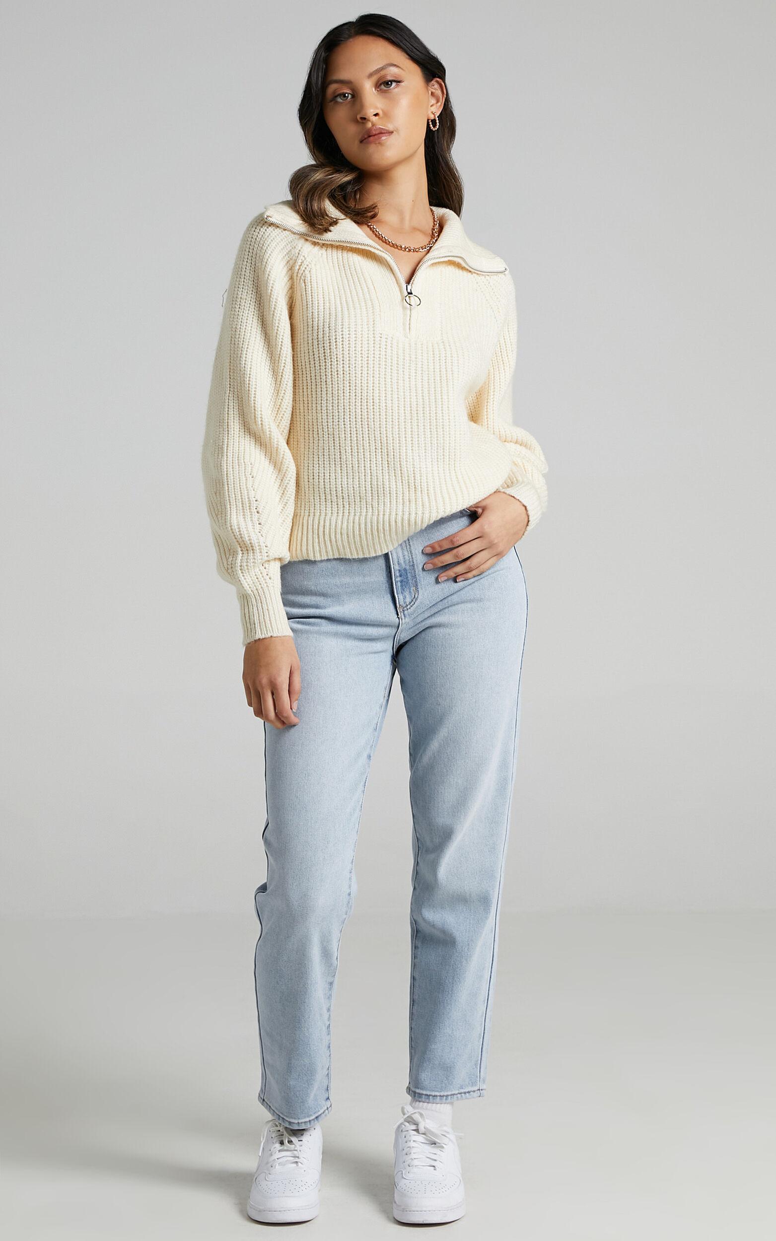 Kodie Knit Jumper in Cream - 04, CRE3, super-hi-res image number null