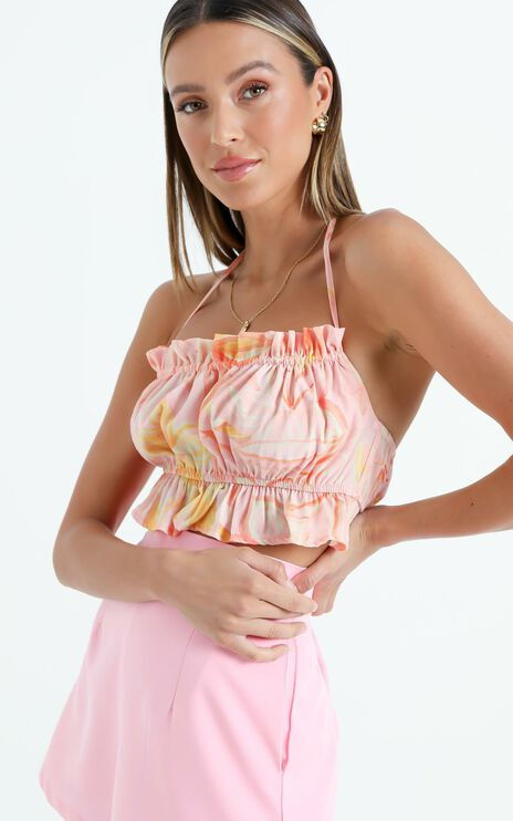 Keep Grinning Top in Summer Floral