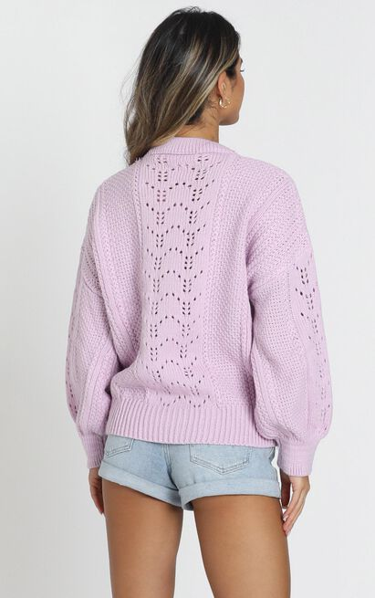 Cabin In the Woods knit Sweater in lilac - 20 (XXXXL), Purple, hi-res image number null