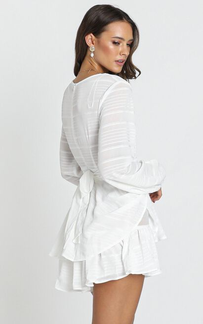 Hamilton Playsuit in white - 14 (XL), White, hi-res image number null