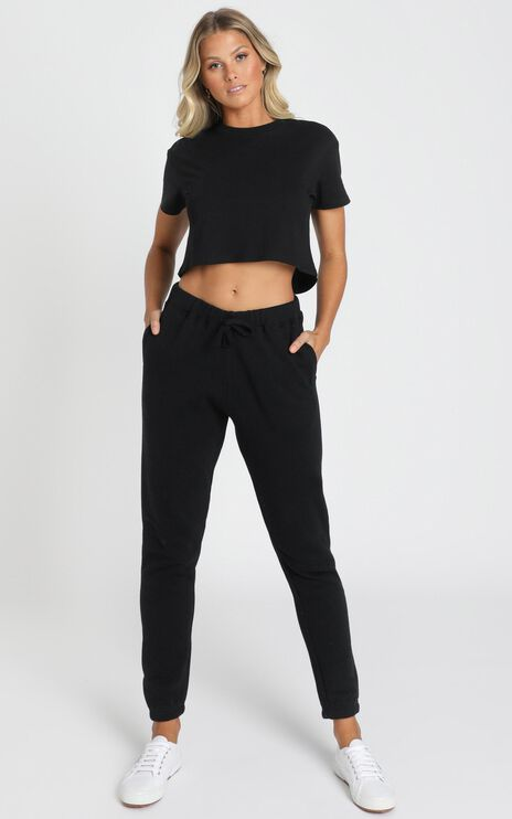 AS Colour - Crop Tee in Black