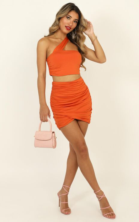 Thats How We Roll Two Piece Set in Tangerine