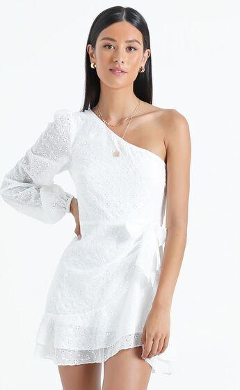 Truro Dress in White Embroidery