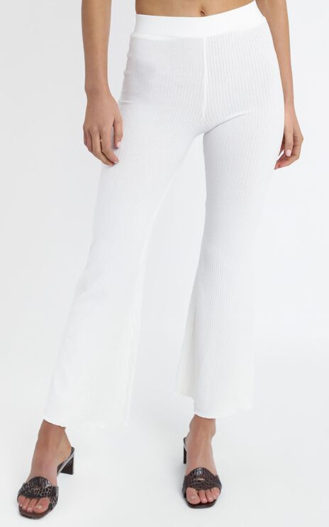 Namaste Flared Pant in White