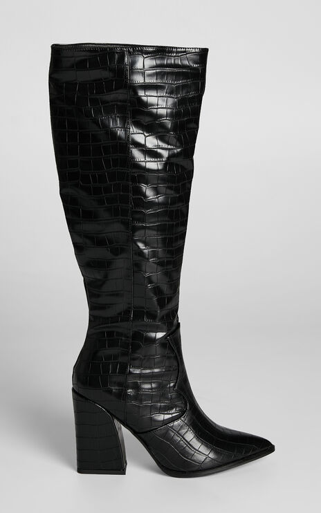 Therapy - Edora Boots in Black Croc