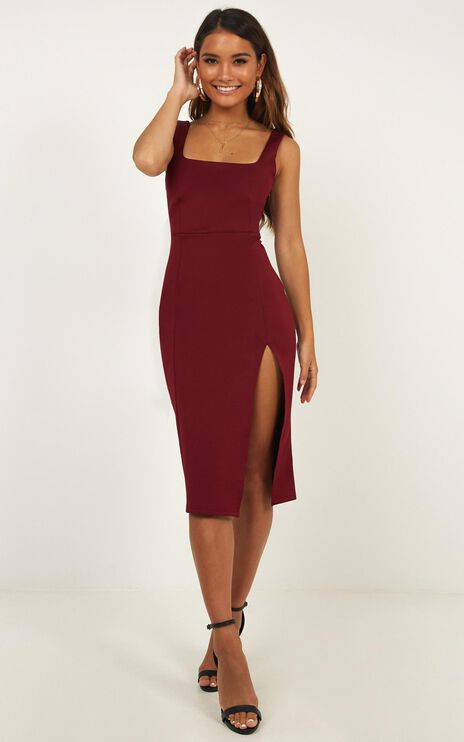 Mini Love Dress in Wine