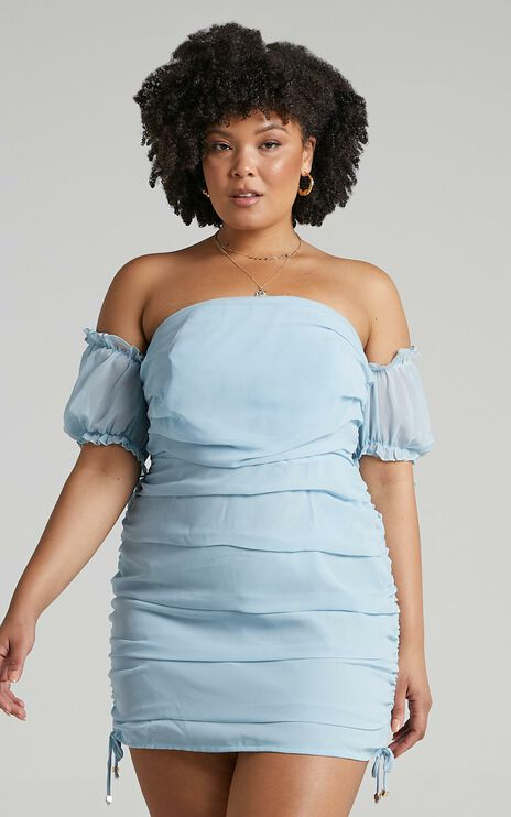 Cant Get You Off My Mind Dress in Powder Blue