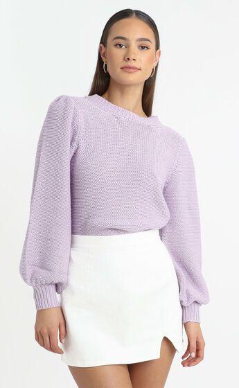 Safia Knit Jumper in Lilac
