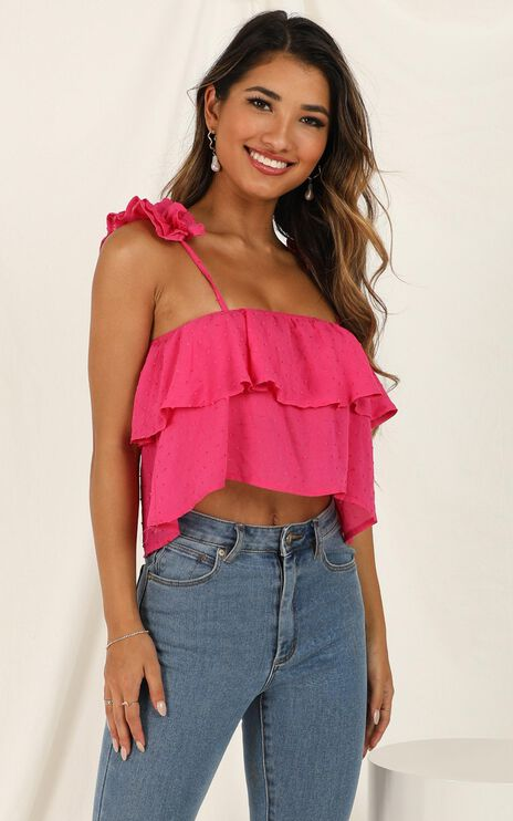 Whole Hearted Top in Hot Pink