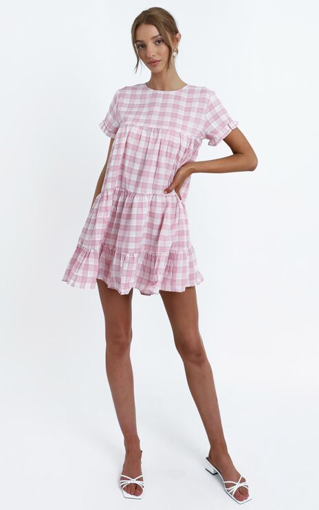 Elise Dress in Pink Check
