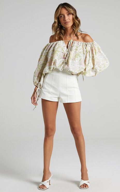 Charlie Holiday - Mila Blouse in Forest Olive Floral