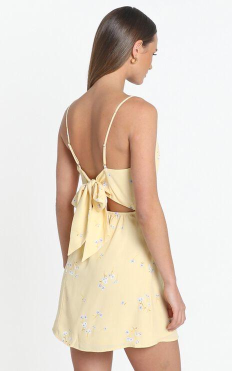 Ramona Dress in yellow floral