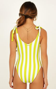 Avery One Piece In Lime Stripe