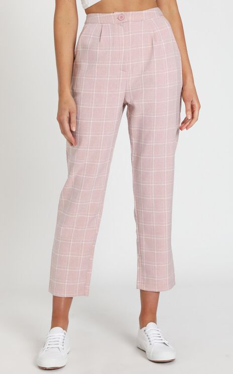 Alpine Pants in Blush Check