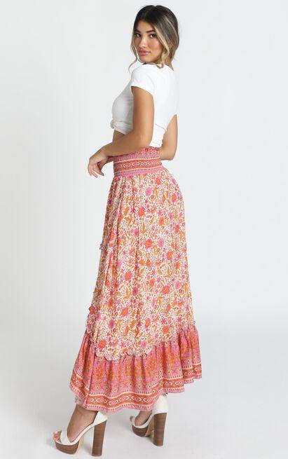 Biggest Crush Skirt in pink floral - 14 (XL), Pink, hi-res image number null