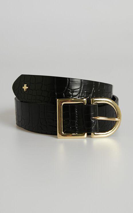 Peta and Jain - Colby Belt in Black Gold