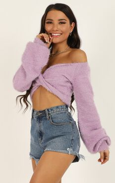 Accepting You Knit Top In Lilac
