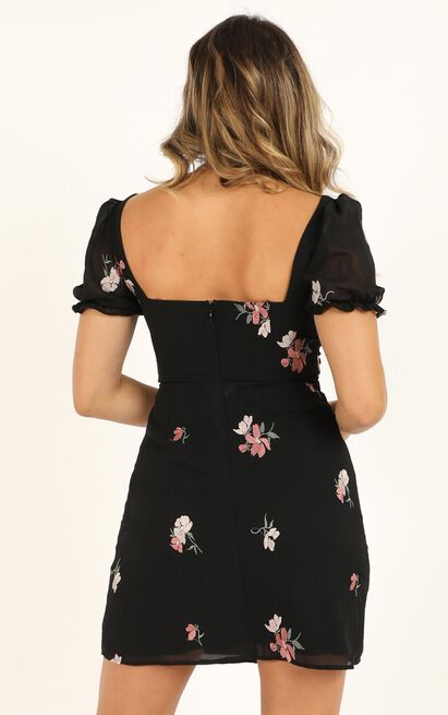 You Earned It Dress In black embroidery - 20 (XXXXL), Black, hi-res image number null