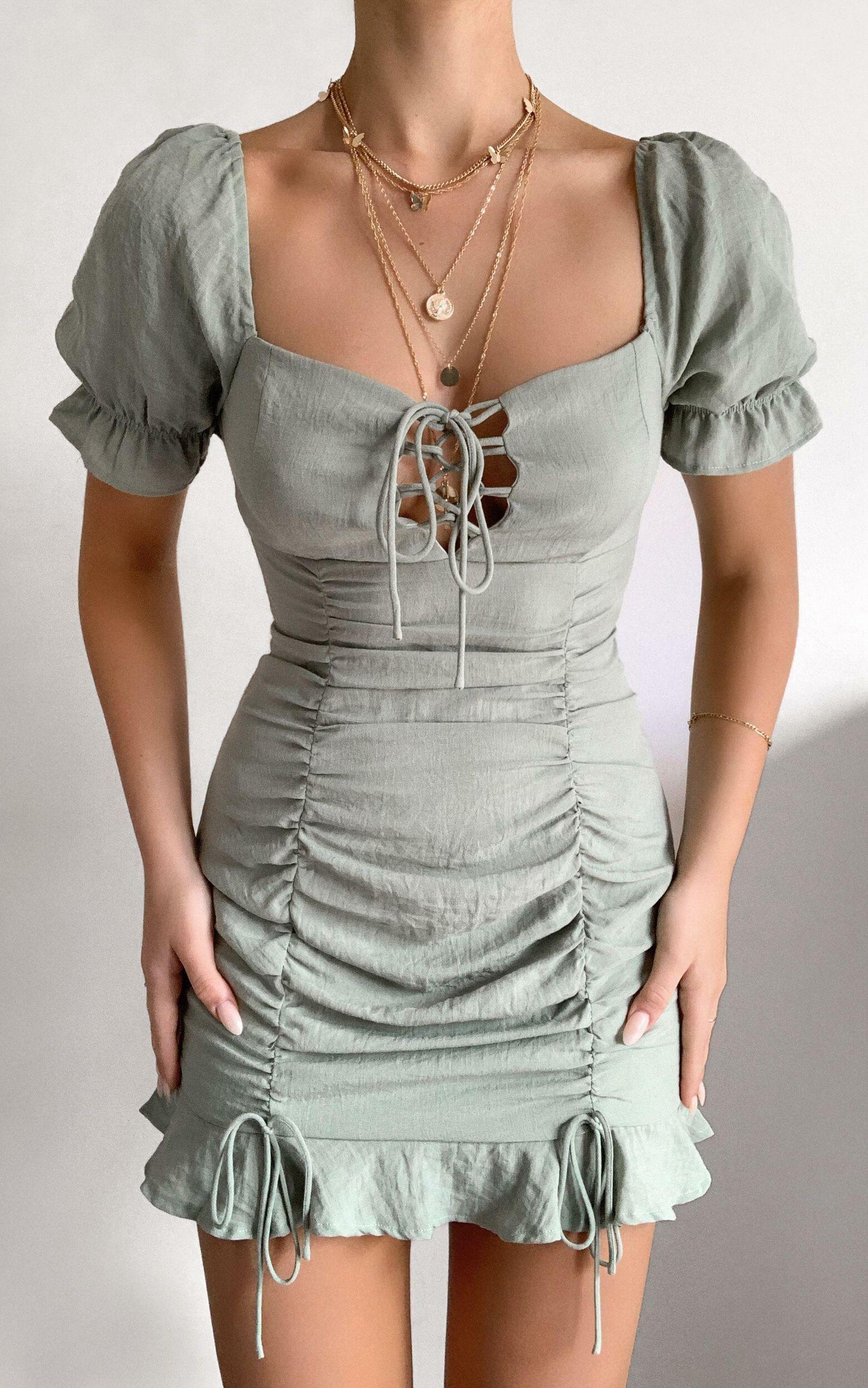 Makenzie Dress in Sage - 12, GRN2, super-hi-res image number null