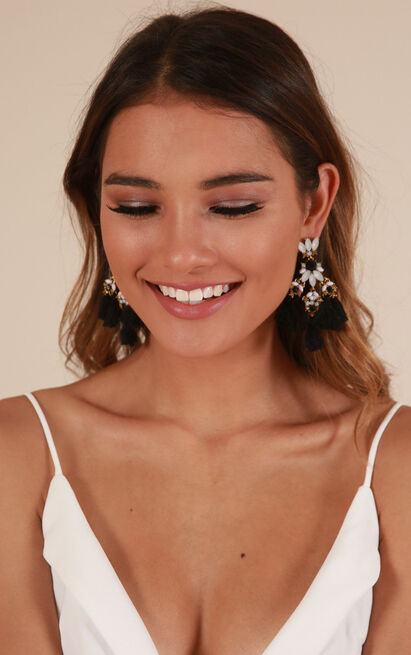 Like Candy earrings in black and gold, , hi-res image number null